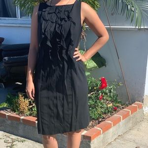 Ann Taylor 12 Black Ruffled Dress